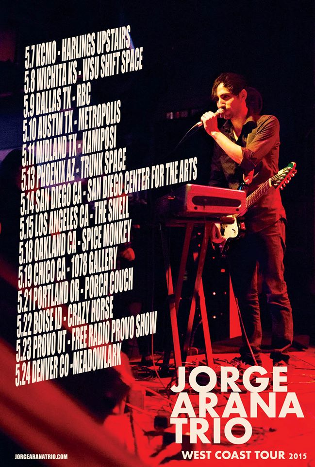 2015-05 Jorge Arana Trio West Coast Tour