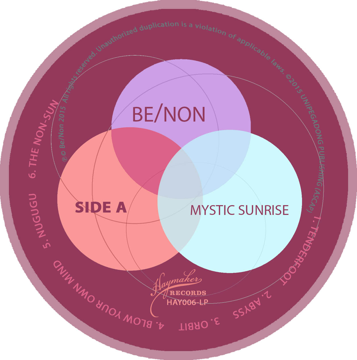 Be/Non - Mystic Sunrise / Sunset Magic - Label A