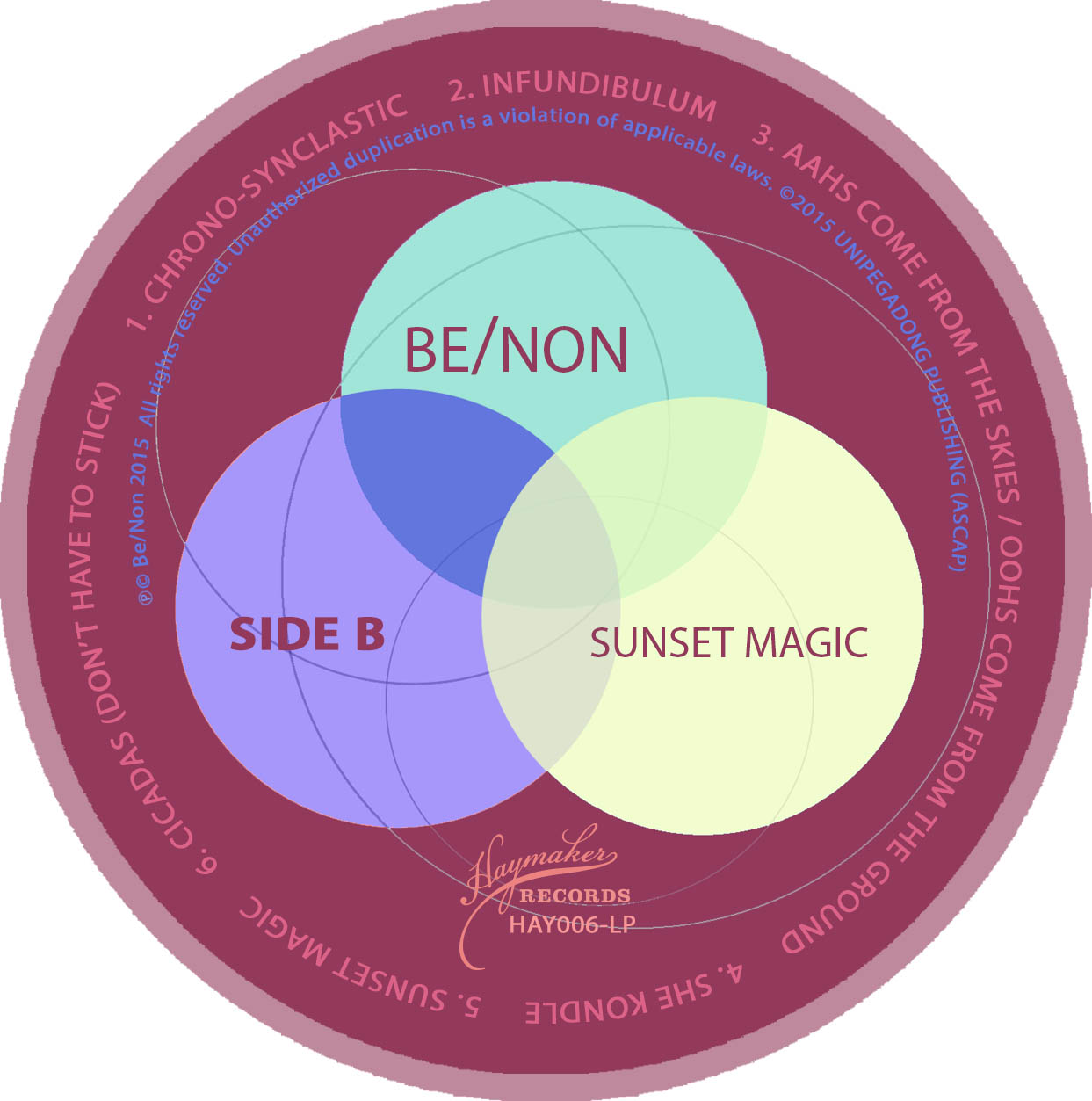 Be/Non - Mystic Sunrise / Sunset Magic - Label B