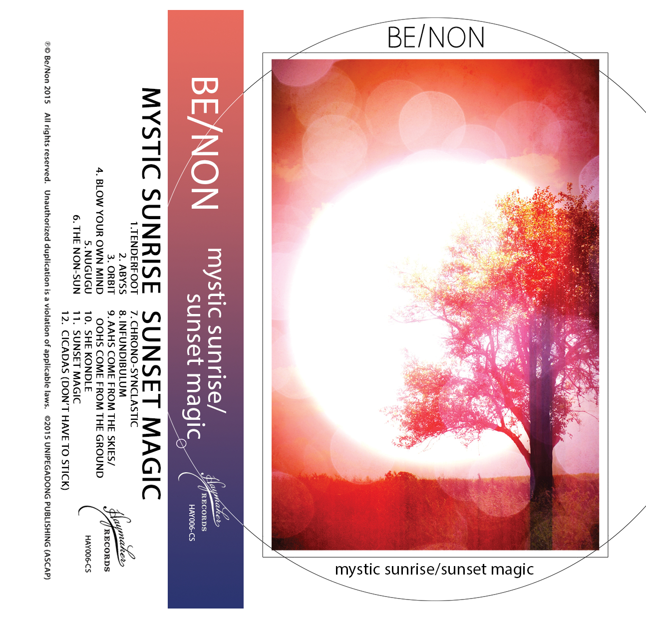 Be/Non - Mystic Sunrise / Sunset Magic - Cassette Cover