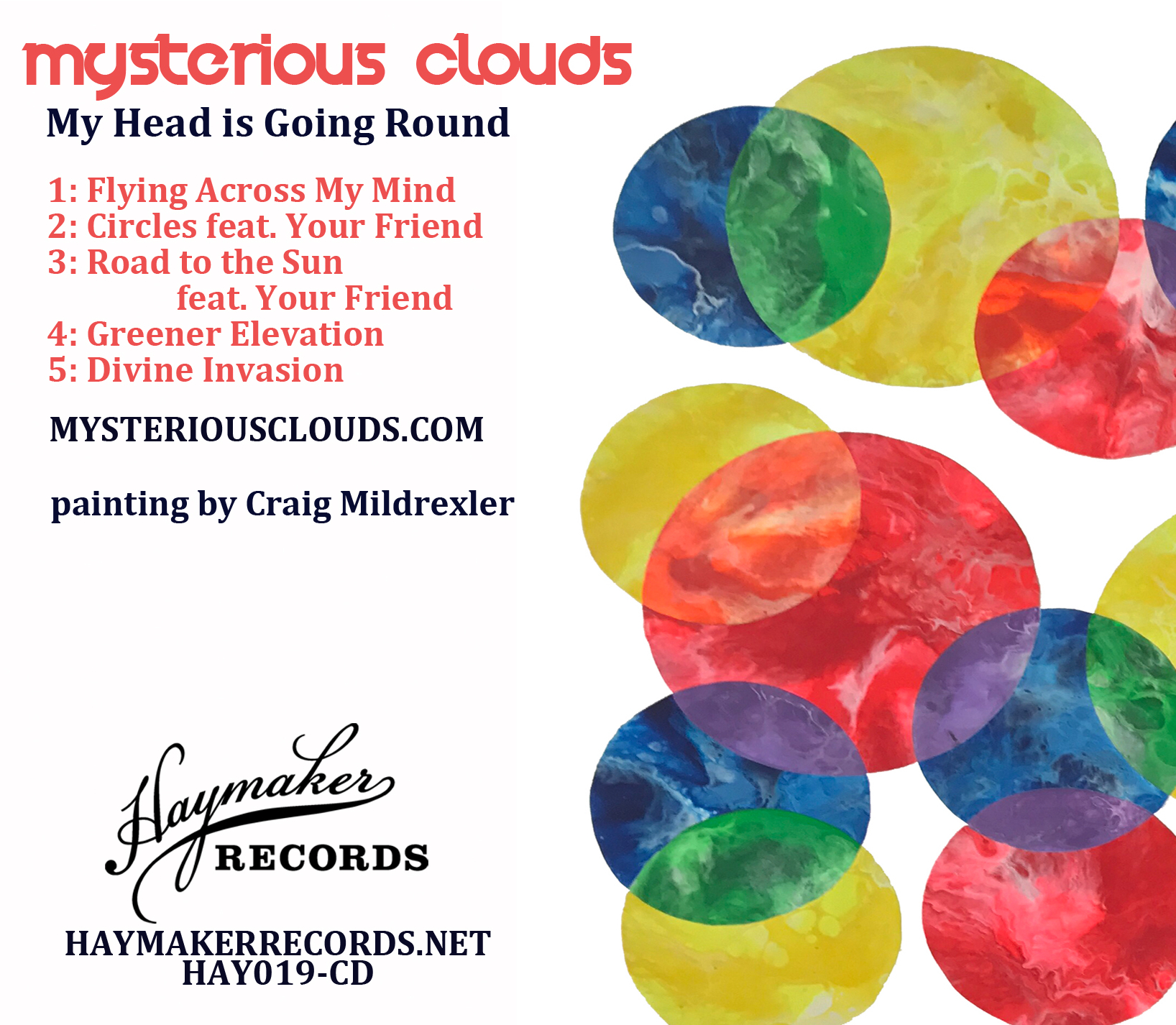 Mysterious Clouds - My Head is Going Round EP (Back)