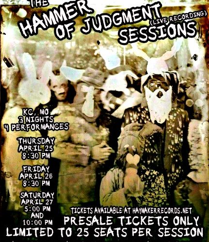 Freight Train Rabbit Killer - Hammer of Judgment Recording Session Poster - Photography by Folkgoblin